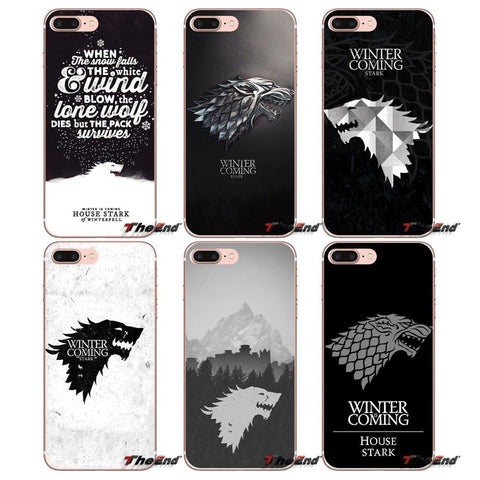 Winter Game of Thrones GOT For Sony Xperia Z Z1 Z2 Z3 Z5 compact M2 M4 M5 E3 T3 XA Aqua LG G4 G5 G3 G2 Mini Capa  House Stark Logo St Case AT_77_7