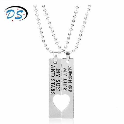 Winter Game of Thrones GOT dongsheng jewelry  Moon  My Life My Sun and Stars Letters Necklace for Lover Couples Gift Beads Chain collares AT_77_7