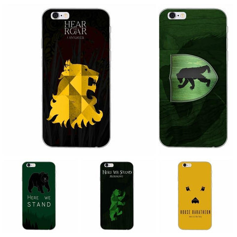 Winter Game of Thrones GOT  mormont silicone TPU St phone case For Samsung Galaxy S3 S4 S5 S6 S7 edge S8 Plus mini Note 3 4 5 AT_77_7