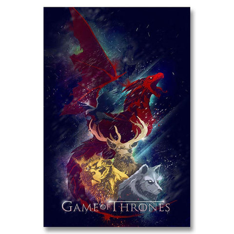 Winter Game of Thrones GOT A156  Season 5 Hot New USA TV Shows Series Top A4 Art Silk Poster Light Canvas Painting Print Home Decor Room Wal AT_77_7