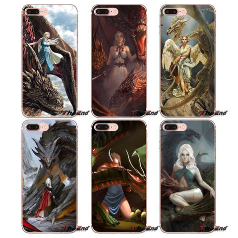 Winter Game of Thrones GOT For iPhone X 4 4S 5 5S 5C SE 6 6S 7 8 Plus Samsung Galaxy J1 J3 J5 J7 A3 A5 2016 2017 dragon mother  Phone Case AT_77_7