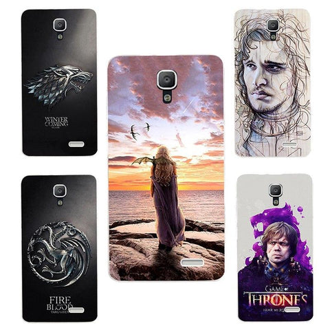 Winter Game of Thrones GOT for  Daenerys Drogon Jon Snow tyrion lannister silicone Phone cover Case Fundas Case for lenovo A536 A 536 A358T AT_77_7