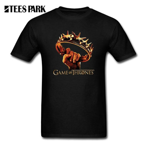 Winter Game of Thrones GOT Concert T Shirts  Season 7 Crown Men's Organnic Cotton Short Sleeve Tee Shirts Custom Men's Cheap Funny T-Shirts AT_77_7