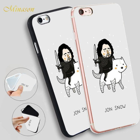 Winter Game of Thrones GOT Minason Jon Snow    Hellip St Silicone Phone Case for iPhone X 8 7 6 6S Plus 5 SE 5S XR XS Max Cover Capas Celular AT_77_7