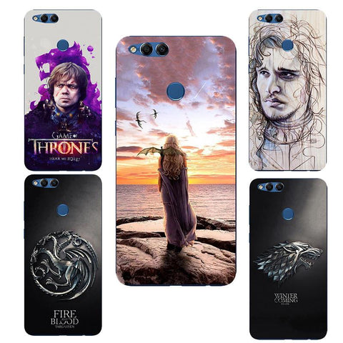 Winter Game of Thrones GOT GOT    House Stark St silicone Painting Case For Huawei Honor 7X 7 X BND-TL10 AL10 Printed Case AT_77_7