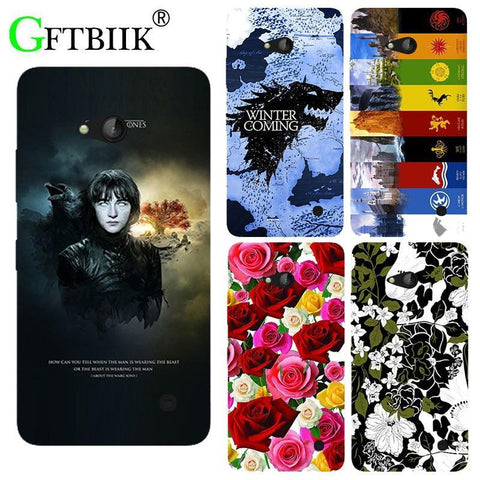 Winter Game of Thrones GOT For  7 Case For Nokia Microst Lumia 640 Lte Dual Sim Cover Hard Plastic Printed Phone Back Shell Football Case AT_77_7