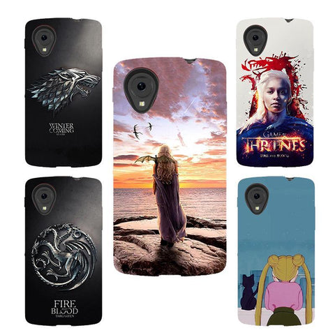 Winter Game of Thrones GOT for LG Nexus 5 case  Daenerys Drogon Jon snow silicone Phone cover Fundas Case for LG Google Nexus 5 D821 D820 AT_77_7