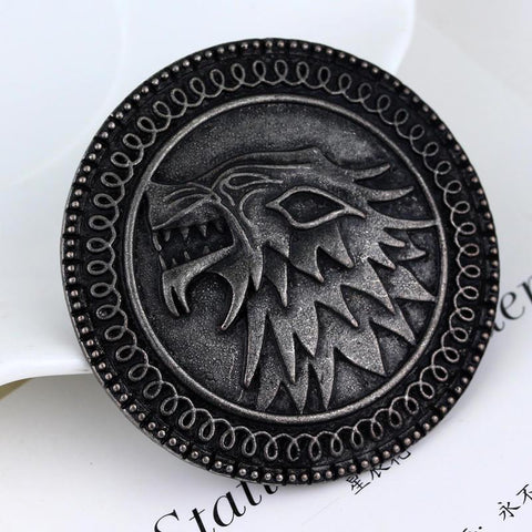 Winter Game of Thrones GOT SG Fashion  Jewelry A Song  Ice And Fire  Wolf Pin Brooch For  AT_77_7