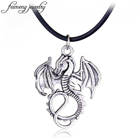Winter Game of Thrones GOT Song  Ice And Fire Necklace  Necklace Targaryen Dragon Badge Pendant Necklace For Men fashion Jewelry AT_77_7