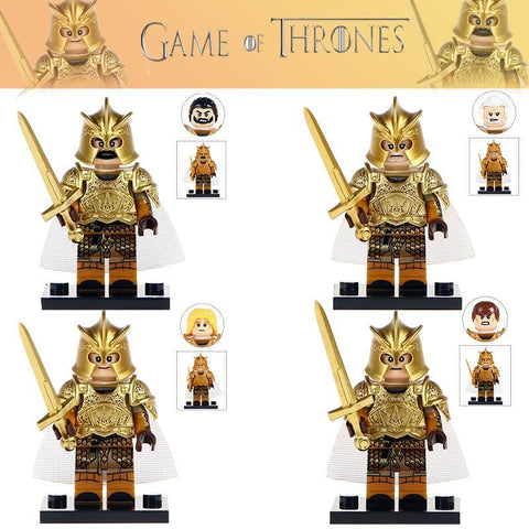 Winter Game of Thrones GOT Building Blocks 4 pcs/lot Jaime Lannister Barristan Selmy Meryn Trant Preston Greenfield  Children Gift Toys AT_77_7