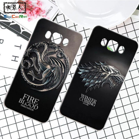 Winter Game of Thrones GOT ShuiCaoRen Silicone Case For Samsung Galaxy J5 2016 J510 Retra  Cover Ice and Fire Fundas For Samsung J5 2015 AT_77_7