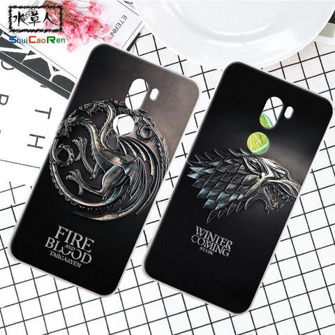 Winter Game of Thrones GOT ShuiCaoRen Silicone Case For Xiaomi Mi 5S plus Retra  Cover Phone Coque Ice and Fire Fundas For Xiaomi Mi5s Plus AT_77_7