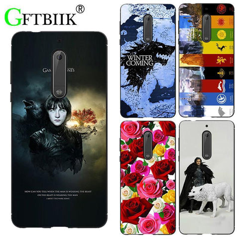 "Winter Game of Thrones GOT For  7 Case For Nokia 5 TA-1053 Nokia5 5.2"" Cover Hard Plastic Print Phone Back Shell Football Case for Nokia 6 8 AT_77_7"