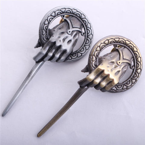 Winter Game of Thrones GOT 2015 New Vintage Home Decor Coins Katana Selling A Song  Ice And Fire Power    King Wand Hand Brooch  AT_77_7