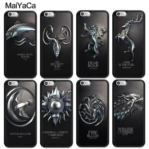 Winter Game of Thrones GOT MaiYaCa s   Fire And Blood Print Mobile Phone Cases Accessories For iPhone 6 6S 7 8 Plus X 5S SE St TPU Back Cover AT_77_7