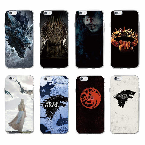 Winter Game of Thrones GOT TOMOCOMO For iPhone 7 7Plus 6 6S 8 8Plus X 5 5S SE XS Max  s Wolf  St TPU Phone Case Cover Coque Fundas For SAMSUNG AT_77_7
