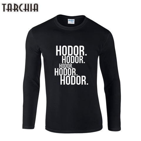 Winter Game of Thrones GOT TARCHIIA 2018 new hodor  boy men Long Sleeve male t shirt tshirt Men's T-Shirt 100% Cotton Plus Size Homme AT_77_7