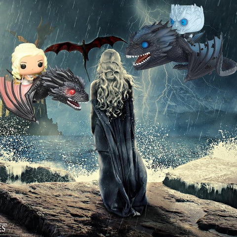 Winter Game of Thrones GOT  Night King on Dragon Dragon & Daenerys Collectible Action Figure AT_77_7