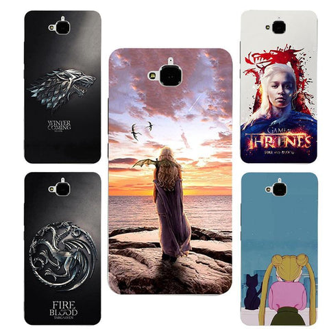 Winter Game of Thrones GOT For Huawei Honor 4C Pro case  Daenerys Drogon hard PC Phone cover Fundas Case For Huawei Y6 Pro Y6pro / Enjoy 5 AT_77_7