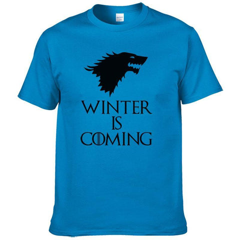 Winter Game of Thrones GOT 2017 summer short sleeve  printed T-shirt casual cotton winter is coming wolf t shirt men cool tees tops #255 AT_77_7
