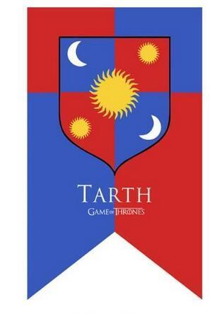 Winter Game of Thrones GOT  TARTH SIGIL Banner Outdoor Flag with 3 eyelets digital print banner 3x5 ft AT_77_7