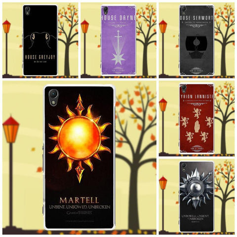 Winter Game of Thrones GOT For Sony Xperia Z Z1 Z2 Z3 Z4 Z5 compact Mini M2 M4 M5 T3 E3 XA St Cell Phone Case Cover House Martell    AT_77_7
