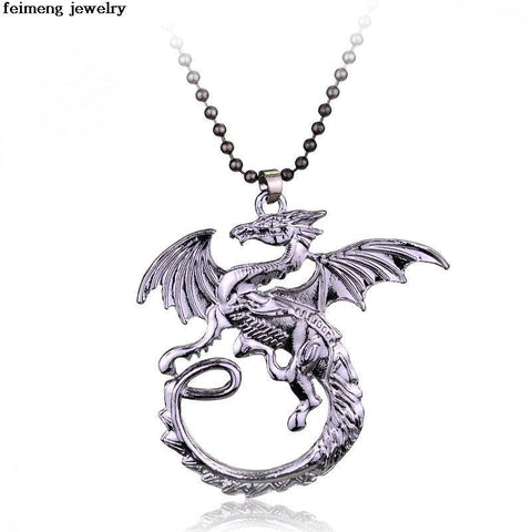 Winter Game of Thrones GOT Fashion High-quality Moive s fine jewelry A Song  Ice and Fire Power  Targaryen dragon necklaces & pendants for  AT_77_7