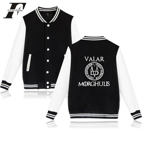 Winter Game of Thrones GOT LUCKYFRIDAYF  jaqueta masculino 2017 men/women Baseball er Jacket Kpop casaco masculino  chaquetas plus size AT_77_7