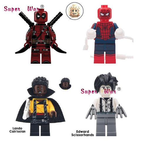 Star Wars Force Episode 1 2 3 4 5 50pcs Super Hero  Movie Lando Cairissian Edward Scissorhands  Spider Man Deadpool building block for children toys AT_72_6