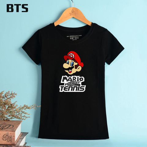 Super Mario party nes switch BTS  T-shirt Women High Quality Casual T Shirt Women Short Summer Style Elastic Breathable Tee Shirt Femme Sexy AT_80_8