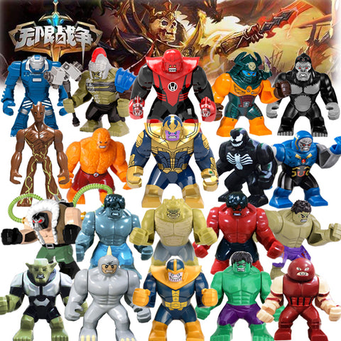 0295 30PCS Super Heroes Avengers Infinity War Big Size Action Figure Batman Thonas Bricks Children Toys Compatible LEGoIngly