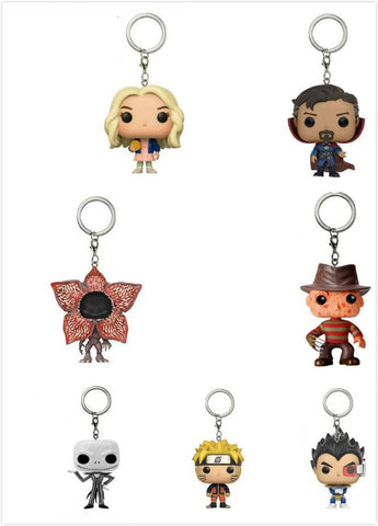 Dr. Who Doctor Who   DRAGON BALL Naruto 10/11/12th Dr.Strange Stranger Things Freddy Krueger Jack Keychain Action Figure Anime Gifts ToyDon't blink AT_79_7