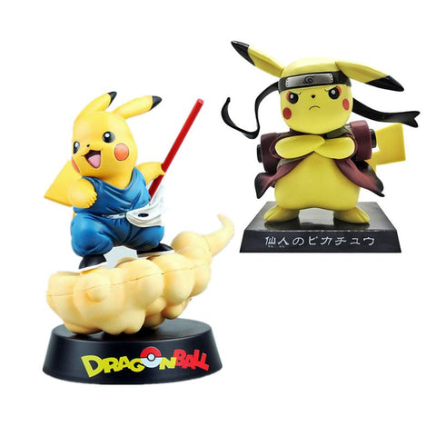 Dragon ball Dragonball capsule Pikachu Naruto  Goku Action Figure Japanese Carton Anime Figurine  Funny dress Statuette Toys Antistress AT_85_9