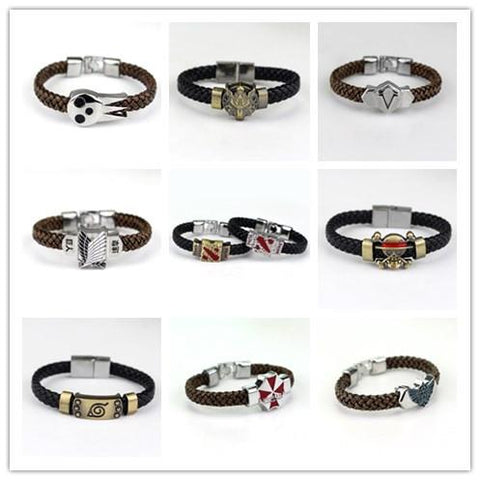 Cool Attack on Titan  The Legend of Zelda RESIDENT EVIL Naruto One Piece Soul Eater Final Fantasy Assassin's Creed Wrist Band Bracelet AT_90_11