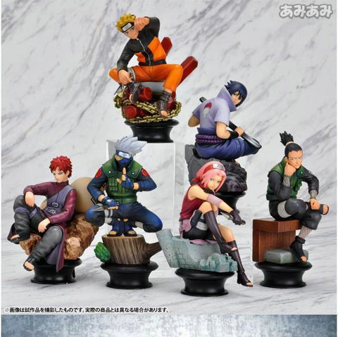 Naruto Sasauke ninja 6 Pcs/set  Action Figure 8cm Gaara Kakashi Sakura Uzumaki Hatake Figure Toys PVC Action Figure Brinquedo For Kids AT_81_8