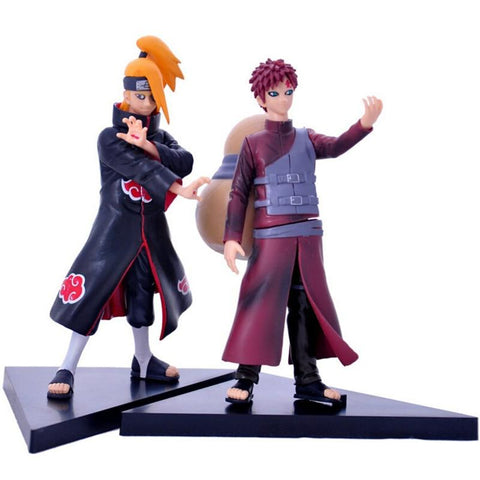 Naruto Sasauke ninja 2pcs/set Sabaku No Gaara VS Deidara 8th Generation 17CM Cartoon Action Figures Collection Model PVC Dolls Toys Anime  AT_81_8