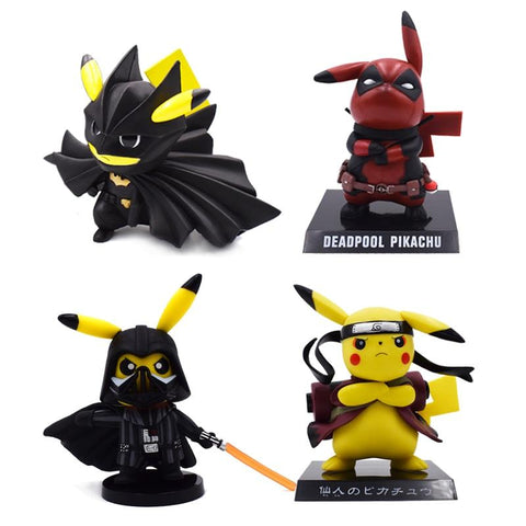 Naruto Sasauke ninja 5 Style Pikachu Cosplay  Deadpool Darth Vader Cartoon Action Figure PVC Toys Collection Figures For Friends Gifts AT_81_8