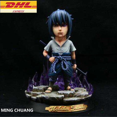 "Naruto Sasauke ninja 7"" Statue Uzumaki  Bust Uchiha Sasuke Uchiha Mikoto Mother GK Action Figure Collectible Model Toy BOX D645 AT_81_8"