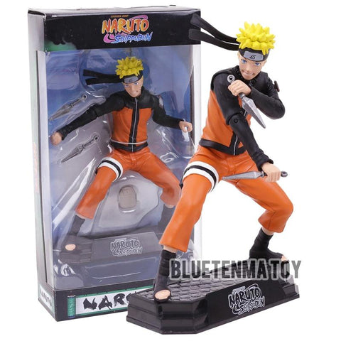 "Naruto Sasauke ninja  Shippuden Uzumaki  with Shuriken 7"" McFarlane Shonen Jump Collectible Action Figure Toys AT_81_8"