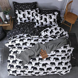 Cool Sookie Eyelash Bedding Set Childish Elephant Bear Printing king queen size Linens Duvet Covers Pillowcases Brief Bed CoversAT_93_12