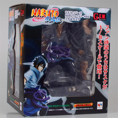 Naruto Sasauke ninja 1pc/lot  Figure Sasuke Toys Collectible Model Toy Action Figures Figurine With Box 20cm Blue High Quality With Base AT_81_8