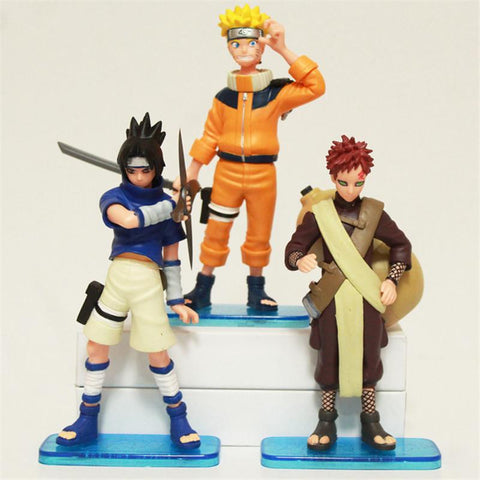 Naruto Sasauke ninja 3pcs/lot  Action Figures Toys 16CM /Sasuke/Gaara PVC Collections Figures Kids Toys Best Birthday Gifts Anime AT_81_8