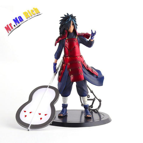 Naruto Sasauke ninja Anime  Figure Uchiha Madara Toys Pvc Action Figure Kids Toys Brinquedos Collectible Model Doll Juguetes 20cm AT_81_8