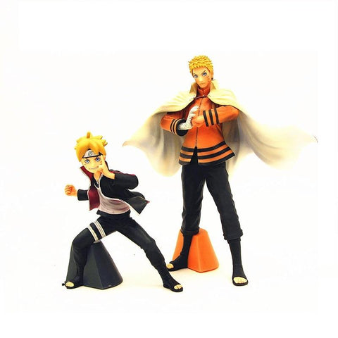Naruto Sasauke ninja 2pcs/set Japanese Anime  Father and Son Uzumaki  Uzumaki Boruto 11~17cm Model PVC Action Figure Decoration Toy New AT_81_8