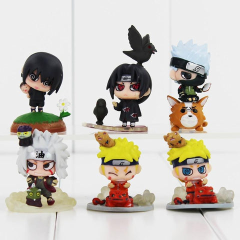 Naruto Sasauke ninja Hot amime  Uchiha Sasuke Uchiha Itachi Kakashi Jiraiya Action Figure Toys Gift for Kids AT_81_8