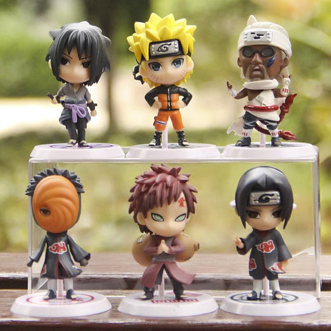 Naruto Sasauke ninja 6Pcs/set  Figure SHF Figuarts Sasuke  Collectible Action Figures Toys S.H Figuarts Susuke Figurine AT_81_8