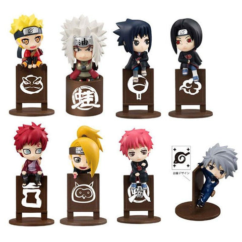 Naruto Sasauke ninja 8pcs/set  Kakashi Sasuke Uzumaki Figure Anime Puppets Figure PVC Toys Model Tea Cup Decoration Accessories Gift #E AT_81_8