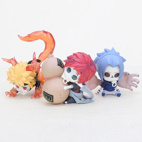 Naruto Sasauke ninja 6-8cm  Uchiha Sasuke Gaara of the sand PVC action figure toy Uzumzki  action figure AT_81_8