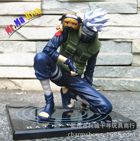 Naruto Sasauke ninja 15cm  Hatake Kakashi Action Figures Anime Pvc Brinquedos Collection Figures Toys With Retail AT_81_8