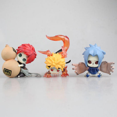 Naruto Sasauke ninja  action figure Q version Uzumaki  Uchiha Sasuke gaara doll decoration pvc collection figurine model toys for gifts AT_81_8